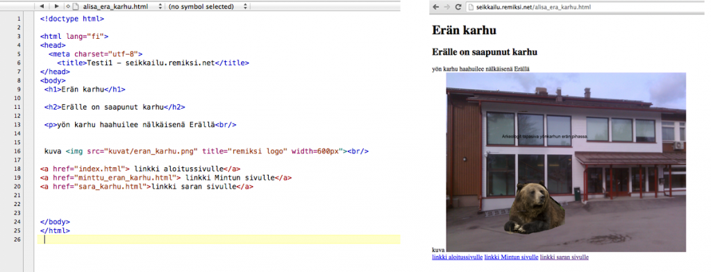 html-websivu-kuvana